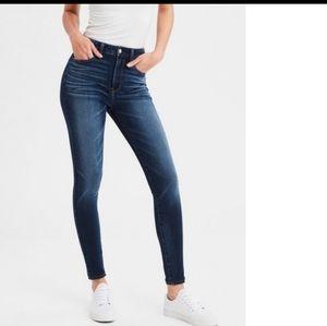 American Eagle super highrise skinny jegging jeans